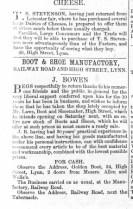 1864 November 5th J Bowen takes Laws shop @ No 54