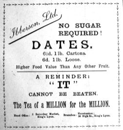 1917 Feb 16th Ibbersons dates