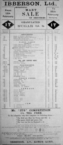 1921 Feb 11th Ibberson