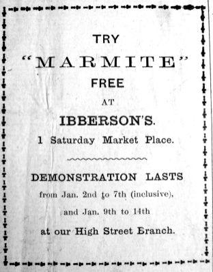 1922 Jan 6th Ibberson Marmite