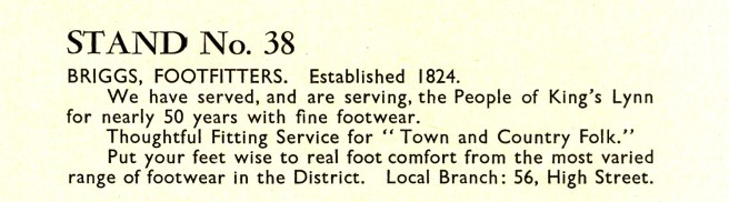 1955 August 24to31 Trades Exhib prog Briggs 1