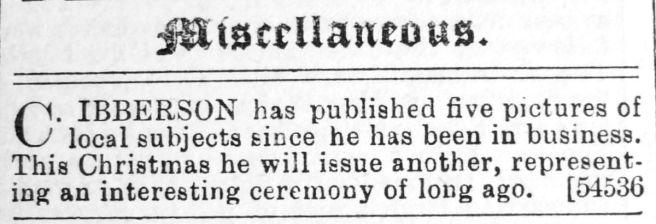 1892 Nov 19th Ibberson pres pic