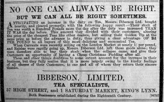 1901 Jan 25th Ibberson