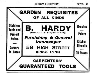 1930-31 B.Hardy @ No 58