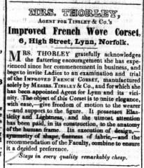 1848 June 17th Mrs Thorley @ No 6