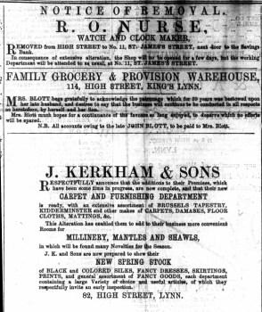 1867 April 13th R O NURSE ex No 6