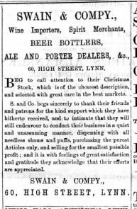 1875 December 11th Swain & Co @ No 60