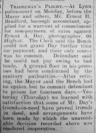 1930 Sept 12th Ernest E Day