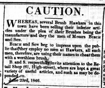 1846 June 27th Birch & Son @ 61