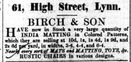 1853 April 23rd Birch & Son @ No 61