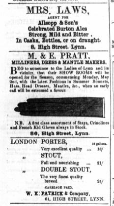 1864 May 7th W K Patrick @ No 61