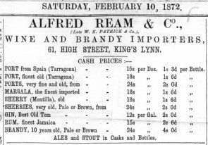1872 Feb 10th Alfred Ream @ No 61