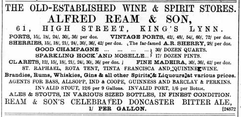 1887 Dec 10th Alfred Ream @ No 61