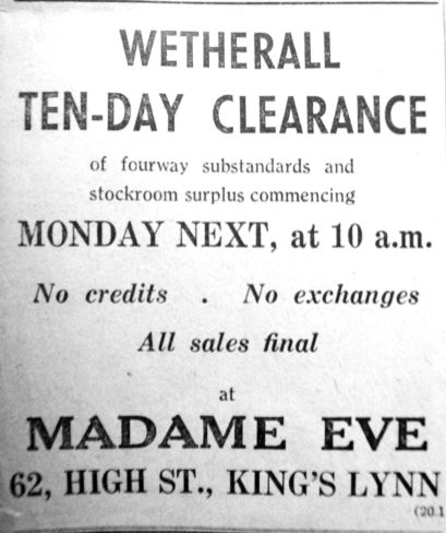 1950 Jan 20th Madame Eve