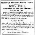 1843 March 28th John Rose retiring