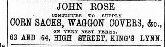 1869 Sept 18th John Rose @ Nos 63 & 64