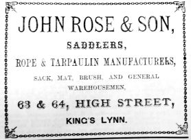 1884 Lynn News Almanack John Rose