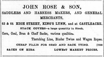 1897 July 30th John Rose & Son @ Nos 63 & 64