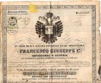1860s approx Guiseppe Cassera Moretti passport