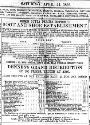1866 21st Apr Dicks @ 65