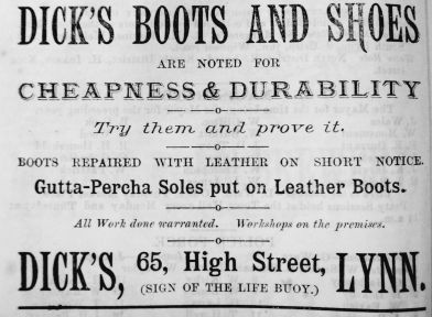 1884 Lynn News Almanack Dicks