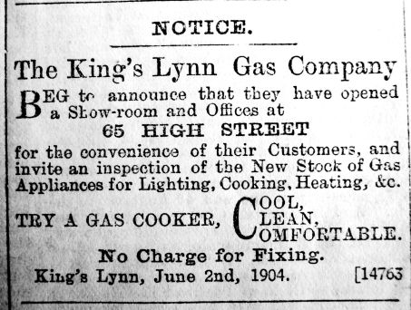 1904 Aug 26th K L Gas Co open contrast