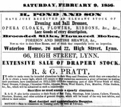 1856 Feb 9th R G Pratt @ No 66