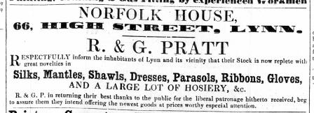 1859 April 23rd R & G Platt @ No 66