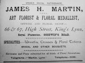 1905 Sconces Almanack J H Martin