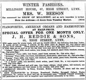 1888 Nov 3rd Mrs Beeson @ No 67