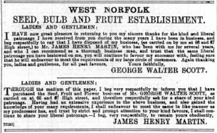 1897 Jan 15th Walter Scott & J H Martin @ Nos 66 & 67