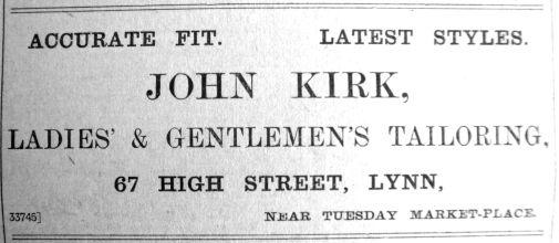 1909 May 21st John Kirk contrast
