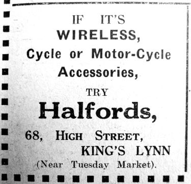 1927 Dec 2nd Halfords