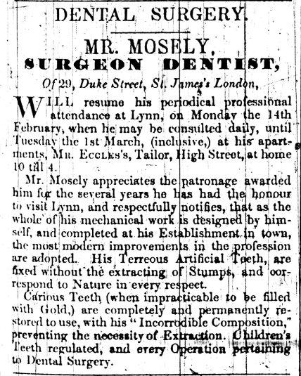 1842 1st Feb Mr Eccles