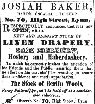 1849 March 10th Josiah Baker