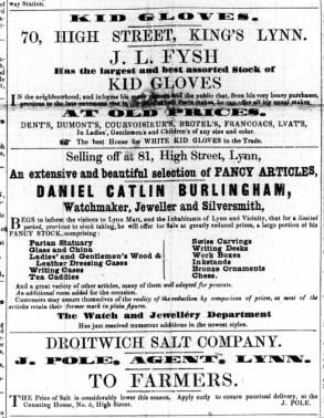 1857 Feb 21st JL Fysh @ No 70