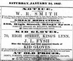 1857 Jan 24th JL Fysh @ No 70