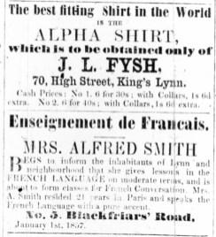 1857 Jan 3rd JL Fysh @ 70