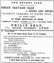 1885 Nov 7th Philip Self @ No 70 ex LN