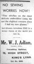 1938 Jan 7th W J Adlam