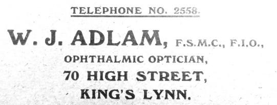 1938 W J Adlam