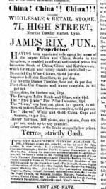 1861 Feb 9th James Rix jnr @ No 71