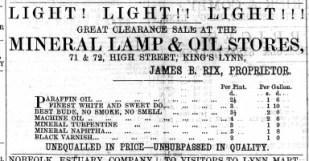 1866 Feb 9th James B. Rix @ Nos 71 & 72