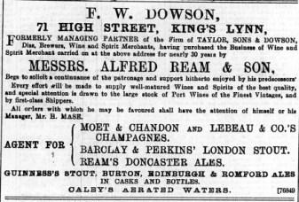 1897 Feb 19th F W Dowson @ No 71