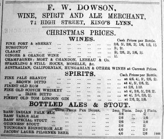 1899 Dec 8th F W Dowson