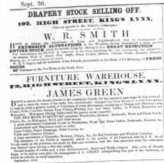 1854 Sept 30th James Green @ No 72