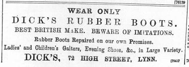 1896 Dec 18 Dicks @ No 72