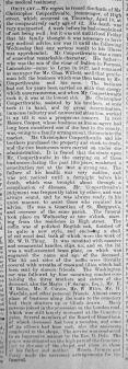 1890 April 19th Christopher Couperthwaite obit