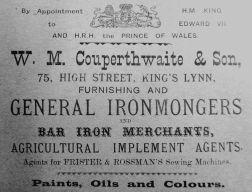 1905 Sconces Almanack W M Couperthwaite