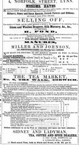 1858 May 1st Sale of Henry Ponds stock @ Nos 76 & 77